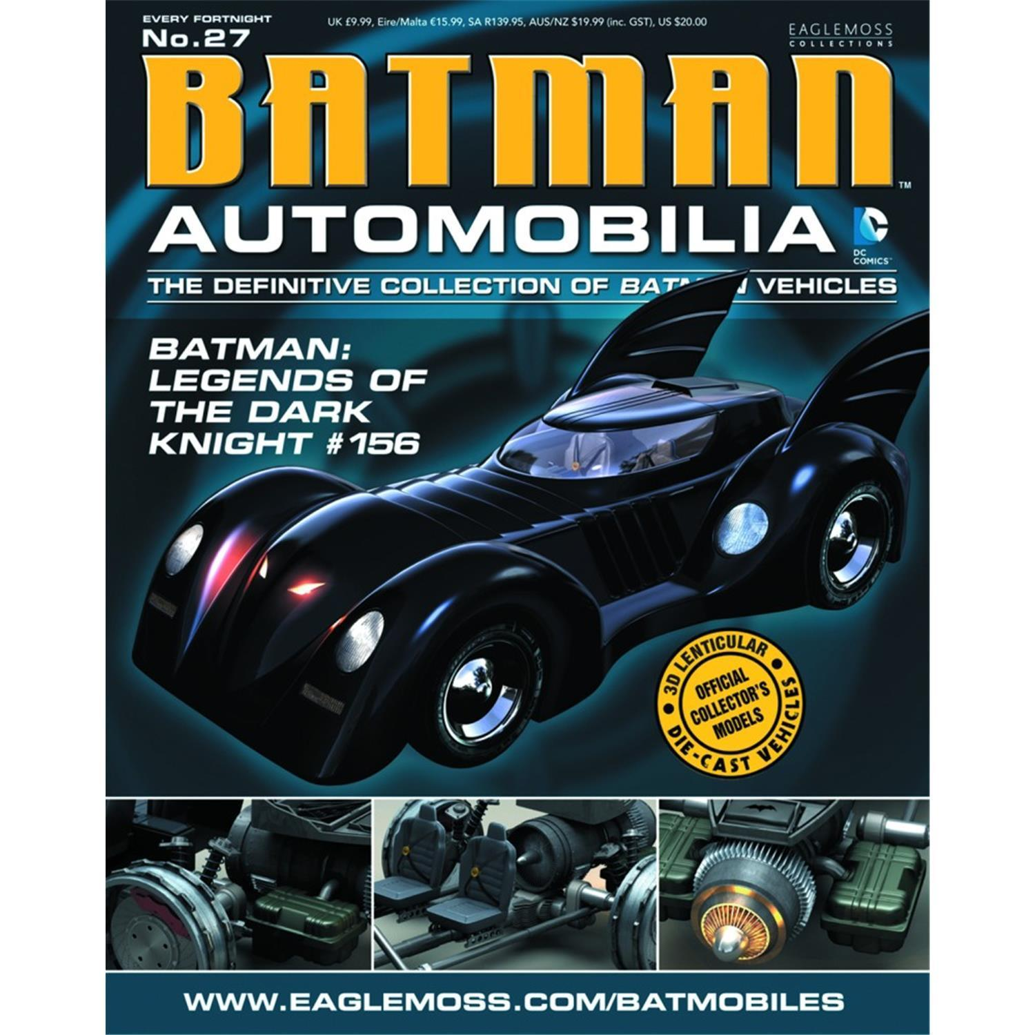 Photo du produit BATMAN AUTOMOBILIA MAGAZINE AVEC VEHICULE 1/43 BATMOBILE (LEGENDS OF THE DARK KNIGHT)