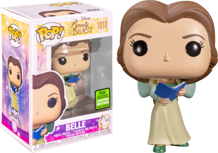 Photo du produit FUNKO POP BEAUTY AND THE BEAST BELLE WITH GREEN DRESS 30TH ANNIVERSARY 2021 SPRING CONVENTION EXCLUSIVE