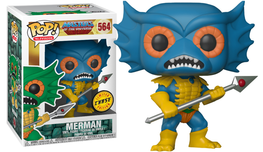 Photo du produit FIGURINE FUNKO POP MASTERS OF THE UNIVERSE MER-MAN CHASE EXCLUSIVE
