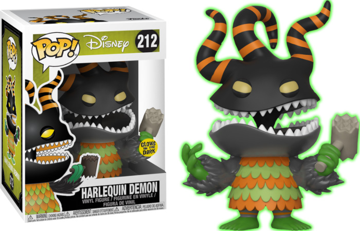 Photo du produit FUNKO POP NIGHTMARE BEFORE CHRISTMAS HARLEQUIN DEMON GITD EXCLUSIVE