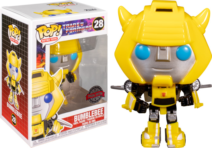 Photo du produit FUNKO POP TRANSFORMERS 1984 BUMBLEBEE WITH WINGS EXCLUSIVE