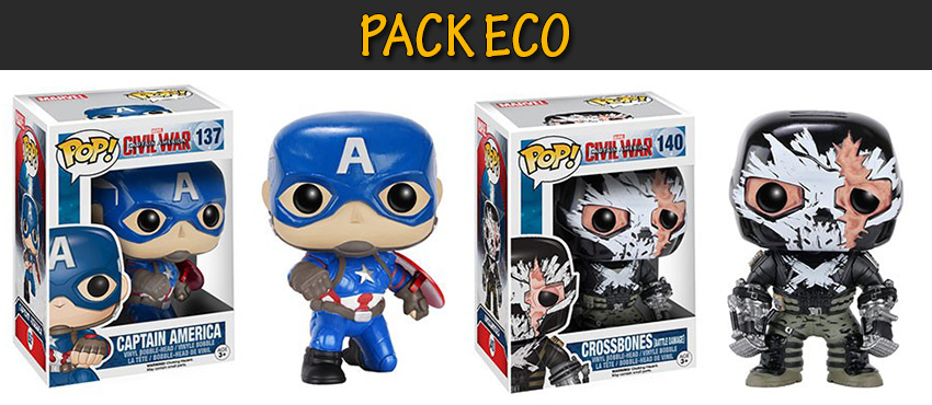 Photo du produit PACK ECO FUNKO POP CAPTAIN AMERICA CIVIL WAR