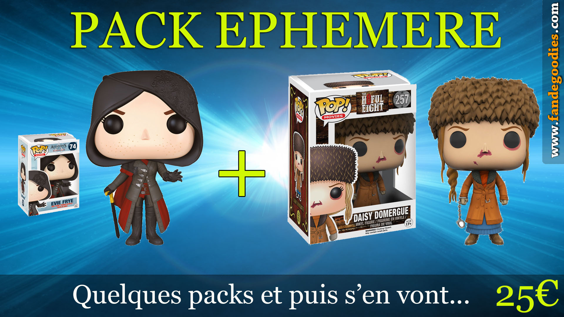 Photo du produit PACK FUNKO POP EVIE FRYE ET DAISY DOMERGUE