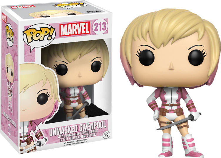 Photo du produit MARVEL FUNKO POP GWENPOOL UNMASKED