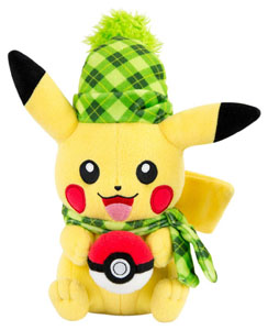 PELUCHE POKEMON PIKACHU (WINTER EDITION) 20 CM