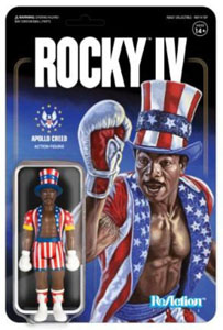 ROCKY 4 FIGURINE REACTION APOLLO CREED 10 CM