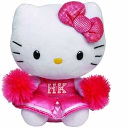 Peluche Hello Kitty TY Beanie Babies Animadora