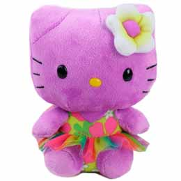 PELUCHE HELLO KITTY TY BEANIE BABIES PURPURA
