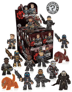 GEARS OF WAR PRESENTOIR + 12 MYSTERY FIGURINES