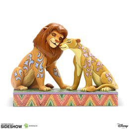 DISNEY STATUETTE SIMBA AND NALA SNUGGLING BY JIM SHORE (LE ROI LION) 13 CM