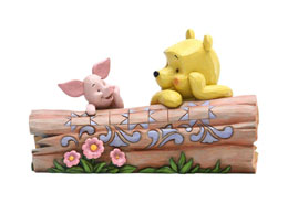 DISNEY STATUETTE WINNIE L'OURSON & PORCINET BY JIM SHORE 10 CM