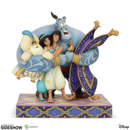 DISNEY STATUETTE GROUP HUG (ALADDIN) 20 CM