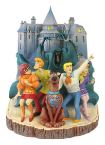 SCOOBY-DOO STATUETTE CARVED BY HEART 23 CM