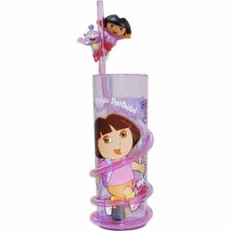 Verre paille 3D Dora l'exploratrice