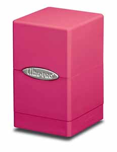 ULTRA PRO DECK BOX SATIN TOWER BRIGHT PINK