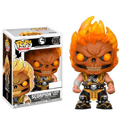 FUNKO POP MORTAL KOMBAT SCORPION FLAMING SKULL HEAD EXCLUSIVE