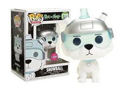 FIGURINE FUNKO POP RICK & MORTY SNOWBALL FLOCKED EXCLUSIVE