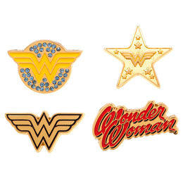 ENSEMBLE 4 PINS WONDER WOMAN DC COMICS