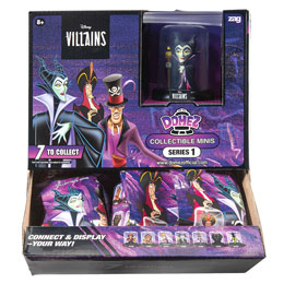 Coffret 18 figurines Domez Series Villains Disney en boîte mystèresurtido