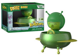 EMERALD CITY COMICON EXCLUSIVES DORBZ RIDEZ #28 THE FLINTSTONES - THE GREAT GAZOO WITH FLYING SAUCER