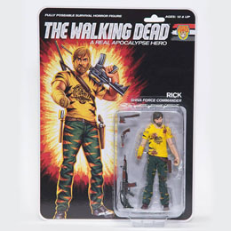 THE WALKING DEAD FIGURINE SHIVA FORCE COMMANDER RICK (BLOODY) 13 CM
