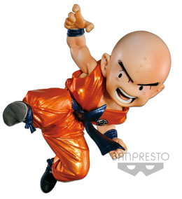 FIGURINE DBZ SCULTURES KRILIN METALLIC EXCLUSIVE - BANPRESTO