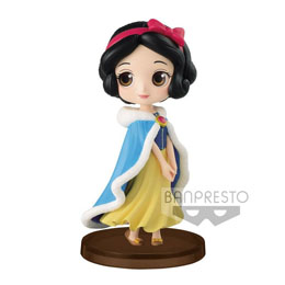 DISNEY FIGURINE Q POSKET PETIT GIRLS FESTIVAL SNOW WHITE WINTER COSTUME