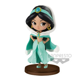 DISNEY FIGURINE Q POSKET PETIT GIRLS FESTIVAL JASMINE WINTER COSTUME 7 CM