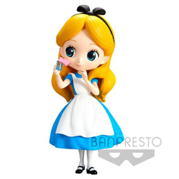 DISNEY FIGURINE Q POSKET ALICE THINKING TIME NORMAL COLOR VER. 14 CM