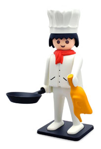 PLAYMOBIL FIGURINE VINTAGE COLLECTION CUISINIER 21 CM