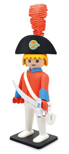 PLAYMOBIL FIGURINE VINTAGE COLLECTION OFFICIER DE LA GARDE 21 CM