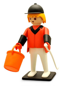 PLAYMOBIL FIGURINE VINTAGE COLLECTION CAVALIER 21 CM