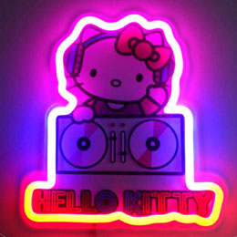 LAMPE MURALE NEON HELLO KITTY