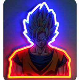 LAMPE MURALE NEON DRAGON BALL GOKU