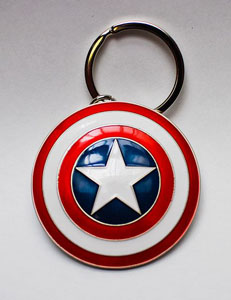 MARVEL COMICS PORTE-CLÉS MÉTAL CAPTAIN AMERICA SHIELD