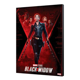 BLACK WIDOW MOVIE TABLEAU EN BOIS BW MOVIE POSTER 34 X 50 CM