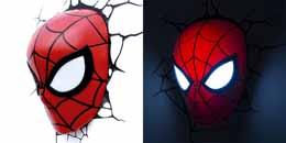 MARVEL COMICS LAMPE 3D LED SPIDER-MAN MASK