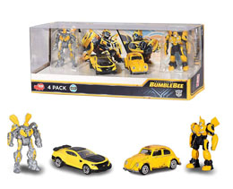 TRANSFORMERS BUMBLEBEE PACK 4 FIGURINES DIECAST 6 CM