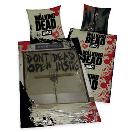 WALKING DEAD PARURE DE LIT DON'T OPEN DEAD INSIDE 135 X 200 CM / 80 X 80 CM