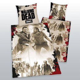 WALKING DEAD PARURE DE LIT TAG TEAM 135 X 200 CM / 80 X 80 CM