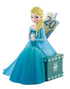 LA REINE DES NEIGES TIRELIRE ELSA 15 CM