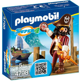 PLAYMOBIL SUPER4 - PIRATE BARBE DE REQUIN