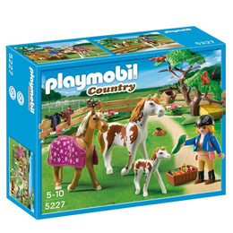 PLAYMOBIL COUNTRY 5227 - L'ENCLOS A CHEVAUX
