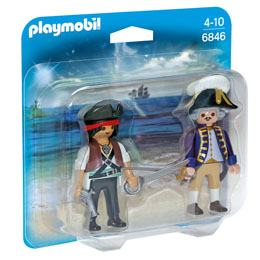 PLAYMOBIL 6846 PIRATE ET SOLDAT ROYAL