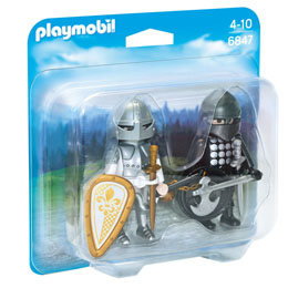 PLAYMOBIL 6847 CHEVALIER NOIR ET CHEVALIER D'ARGENT