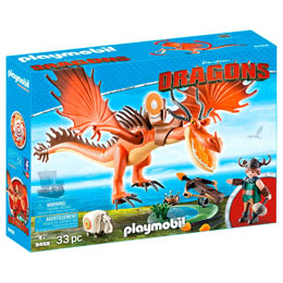 PLAYMOBIL DRAGONS DREAMWORKS RUSTIK ET KROCHEFER 9459