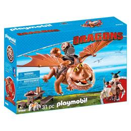 PLAYMOBIL DRAGONS DREAMWORKS VAREK ET BOULEDOGRE 9460