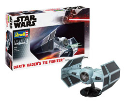 STAR WARS MAQUETTE 1/57 DARTH VADER'S TIE FIGHTER 17 CM