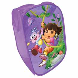 Grand panier de rangement de jouets Dora l'exploratrice