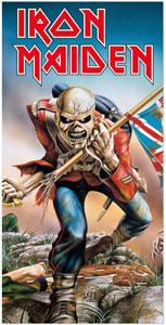 SERVIETTE DE BAIN IRON MAIDEN TROOPER 150 X 75 CM